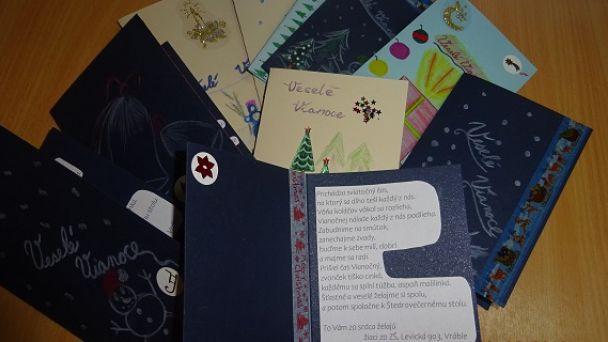 Vianočné pohľadnice od žiakov zo ZŠ, Levická 903, Vráble